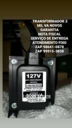 AUTO TRANSFORMADOR 3 MIL va NOVOS GARANTIA 1 ANO SERVIÇO DOMICÍLIO ATENDIMENTO FIXO