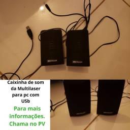 Caixinha de som da Multilaser para PC