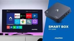Smart Tv Box 4k Aquário Profissional Com Netflix E Youtube