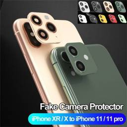 Lente camera fake iphone x transforma em iphone 11 pro