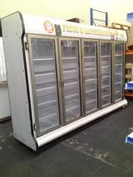 Balcão expositor refrigerado usado 3,00 mts 5 portas