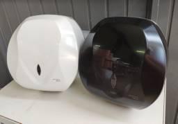 Título do anúncio: Dispenser Papel Higiênico Tipo Rolão de 300 a 500m, Branco e Preto - Premisse
