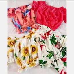 Blusa e vestidos
