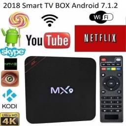 Transforme sua Tv em Smart Box 4k Android 10.1 Tv Box Media Player 4g Ram +32g