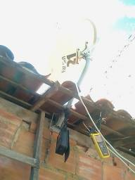 Eu aponto a sua antena parabólica ku e c