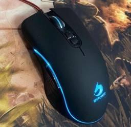 Mouse Gamer Usb Com Fio Leds Coloridos Rgb 2400 a 6.400 Dpi 5 Botões