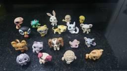 Coleção de 19 Littlest Pet Shop originais + Mala cenário de casinha