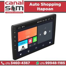 Central Multimídia Android Tela 10 Pol. Creta Gps Usb instalada na Canal Som
