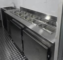 Balcão refrigerado ou neutro inox