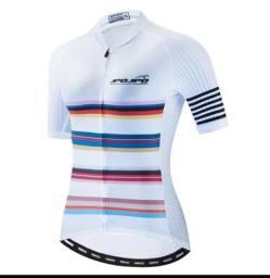 Camisa de ciclismo feminino Tam. G