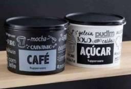 Conjunto caixa café+açúcar