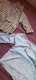Doa-se  duas camisas femininas