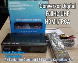 Conversor digital UHF para TV antiga NOVO