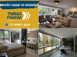 Mansão D. Bergara, 4 suítes com dependência e gabinete em 212m² no Pituba Ville