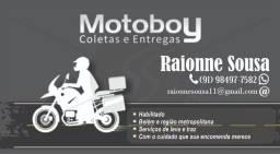 Motoboy e Entregador. agende os serviços