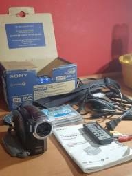 Sony Handycam Dvd403 Com Defeito + Carregador + Acessórios