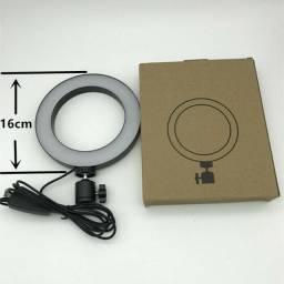 Iluminador Ring Light Usb Led Misto 3200k 5600k Com Tripe