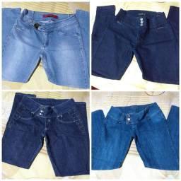 Calça jeans tamanho 44 usadas