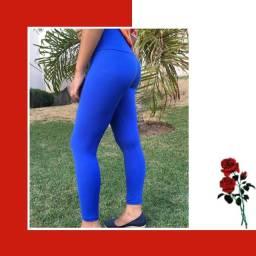Legging azul feminina