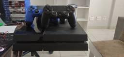 PlayStation 4 500GB + 3 controles originais + 16 Jogos