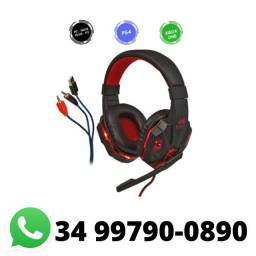 Fone Headset Gamer com Led