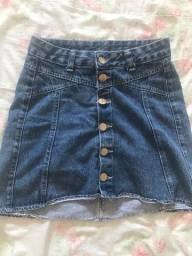 Saia jeans,blusas,croppeds e vestido