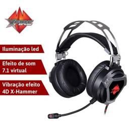 Fone De Ouvido Headset Gamer com led XFire WarSound