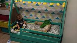 Mini cama com cama auxiliar 750,00 semi nova