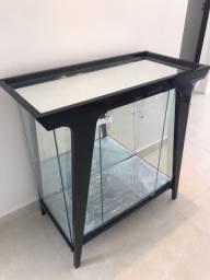 Cristaleira aparador laca preta com espelho