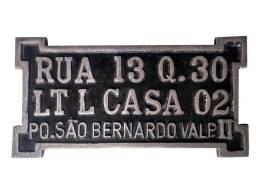 Placa de endereço