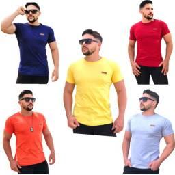 Camisa Masculina Lisa Basic Kit 10 peças - Atacado Revenda