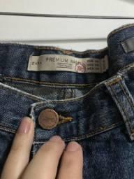 Calça jeans zara com rasgos