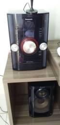 Vendo Som Panasonic sa-kax12 com CDs, Radio e entrada USB.