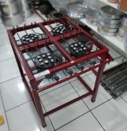 Fogão Semi Industrial Master 4 Bocas 40x40cm Alta Pressão