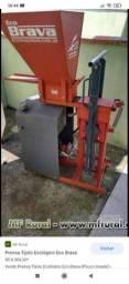 Máquina mais triturador de terra de tijolos ecológico
