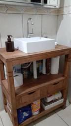 Aparador rústico para seu banheiro