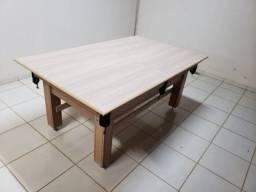 Mesa Tentação de Sinuca Cor Cerejeira Tecido Verde Mod. CTNR7919