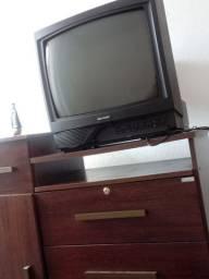 Tv de tubo Finciona Conversor e Antena Normal