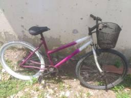 Bicicleta feminina com cestinho