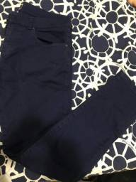 Calça masculina Zara man - Azul Marinho - tamanho 40 - Original