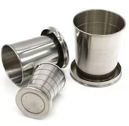 Copo Retrátil Dobrável Aço Inox 150 ml