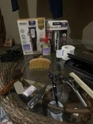 Magic clip, andys slimline, pente tesouras tudo para barbeiros iniciantes.