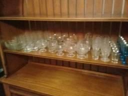 Lote 60 copos tacas tok stok cristal vidro sorvete drink entrego sp