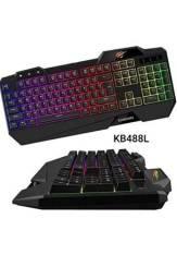 Teclado Gamer Havit Kb488l Multi-função Com Led Abnt2 Preto