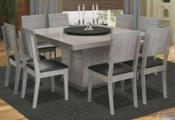 Vendo mesa de jantar giratória 8 cadeiras