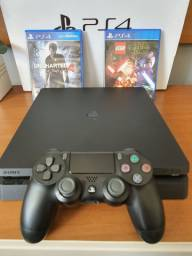 PlayStation 4 SLIM 1 TERA com jogos completo