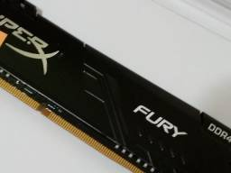 Memória Ddr4 Hyperx Fury 8gb 2666mhz Black desktop Hx426c16fb3/8 ? Lacrado