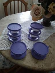 Tupperware, taças p servir gelatina etc