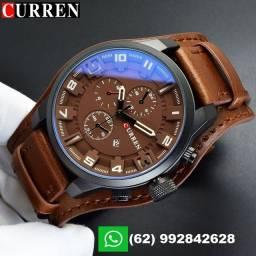 Relógio Curren com Bracelete de Couro PU Original!!