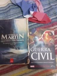 Livro guerra civil e as crônicas de gelo e fogo